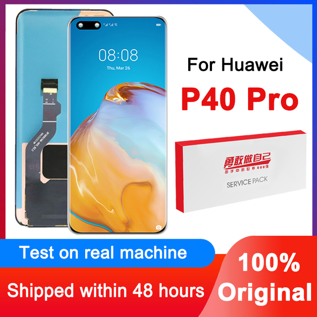 100% Original 6.58 Display Replacement For Huawei P40 Pro LCD Touch Screen Digitizer Assembly For Huawei P40Pro Repair Parts