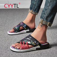 цена на CYYTL Brand Summer Outdoor Casual Sandals Non-Slip Beach Shoes Swimming Slippers for Male Home Flip Flops Men's Walking Shoes