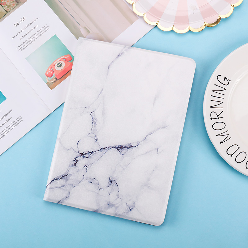 White Marble Green Marble Texture Case for iPad 10 2inch 2020 2019 PU Leather PC Back Cover Smart Magnetic