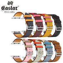 Eastar Colorful Leather loop for Apple Watch Band Series 6 SE 3 2 1 Sport Bracelet 42mm 38mm Strap for iwatch 4 5 Band 40mm 44mm cheap CN(Origin) 22cm Watchbands New without tags buckle