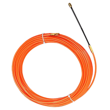 цена на 4Mm Orange Guide Device Nylon Electric Cable Push Pullers Duct Snake Rodder Fish Tape Wire