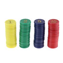 Kit Of 160 Four Colors Poker Chips With Storage Box Diameter 38