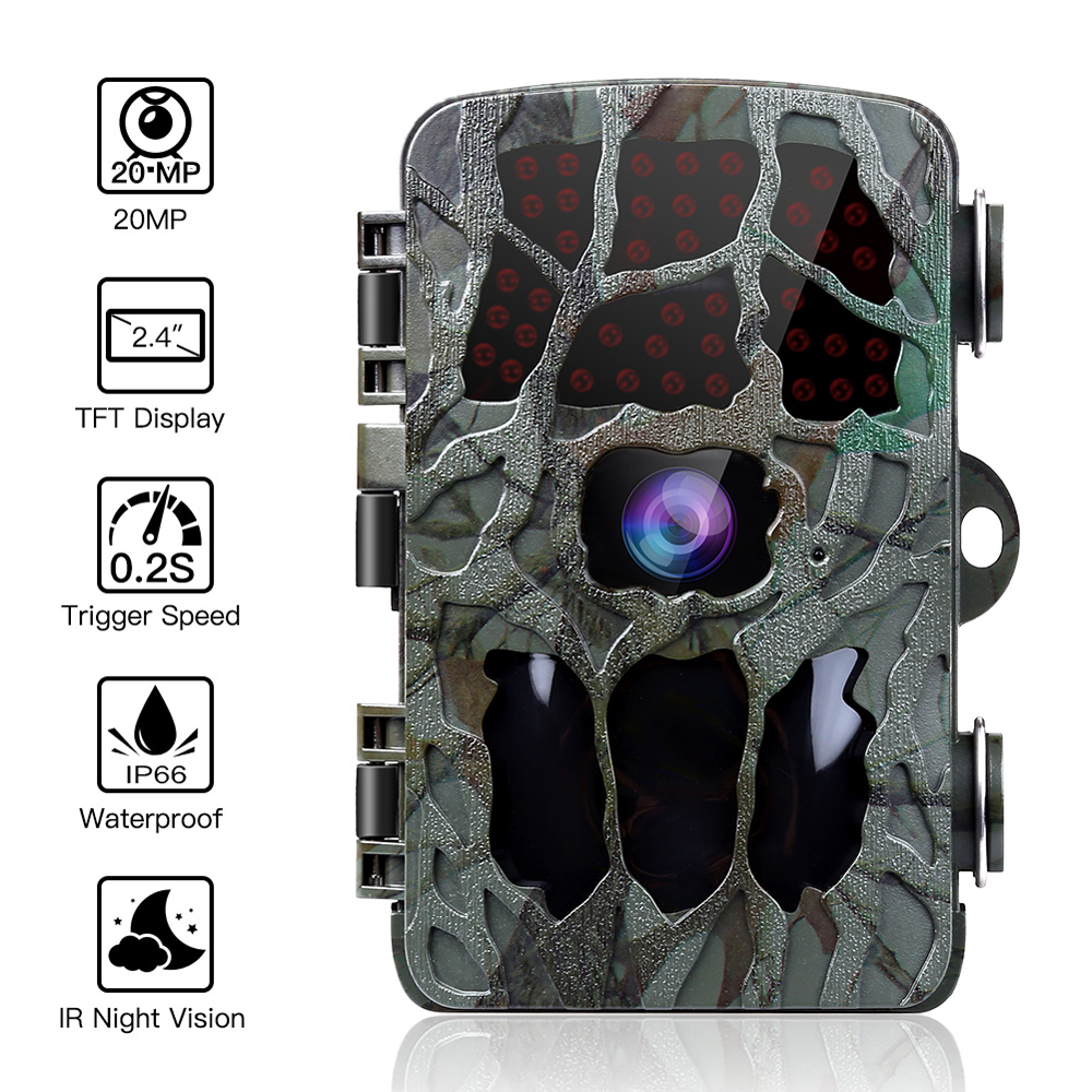 20MP 1080P Hunting Camera 0.2s Trigger Wildlife Camera Scouting Security Hunting Trail Cameras Chasse Scout IP66 4K Photo Trap