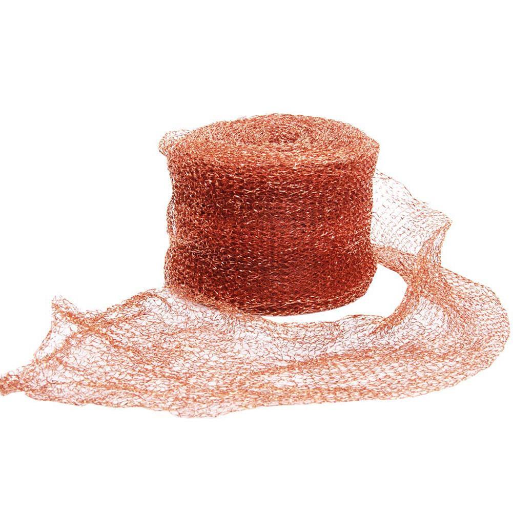6/15/30M Knitted Copper Mesh For Bat/Mouse Hole Blocker Stopper Pipeline Barrels Clean Gap Filling Garden Protection Net
