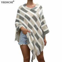 Ysdnchi женский модный сексуальный зимний клетчатый полосатый