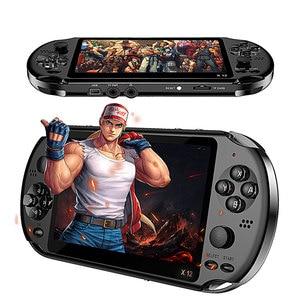 Image 1 - X12 משחק וידאו משחקי כף יד משחק קונסולת עבור PSP רטרו כפולה נדנדה ג ויסטיק 5.1 אינץ מסך טלוויזיה משחק נגן עבור SFC/GBA/NES/Bin