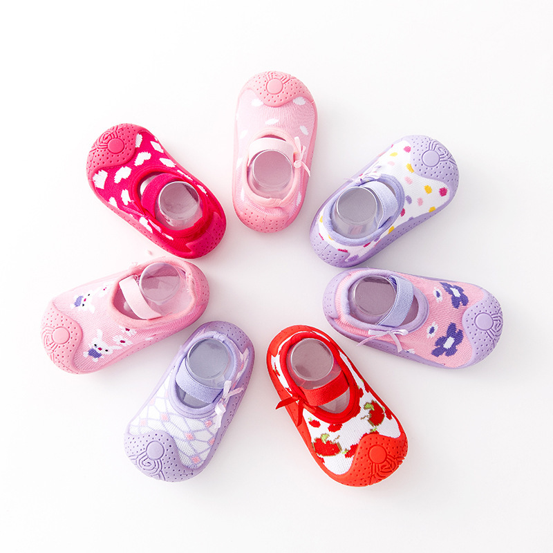 Baby Socks Newborn Anti Slip Socks Shallow Mouth Baby Girl Non-slip Toddler Shoes Baby Boy Soft Rubber Sole Floor Socks