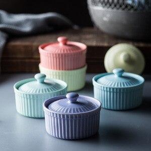 Керамическая миска для выпечки ANTOWALL, миска для суфле, пудинга, мороженого, десерта, йогурта, миска для духовки