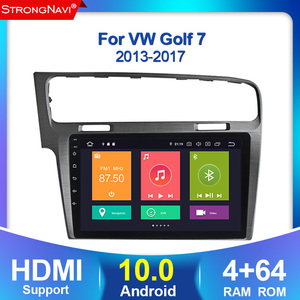 2din Android 10.0 No DVD GPS navigation For Volkswagen Golf 7 MK7 2013 2015 2016 2017 Car Radio Multimedia Video Player 4+64G(China)