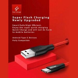 Image 3 - Pacote de 5 usb trançados de nylon voxlink, fio tipo c para carregamento rápido, para samsung galaxy, htc 10, macbook, xiaomi mi8 cordão de carregamento a1