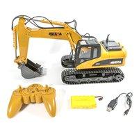 RC Truck Excavator 15CH 1:14 Construction Digger Wireless Bulldozer+Remote Control Alloy Excavator Birthday Gift