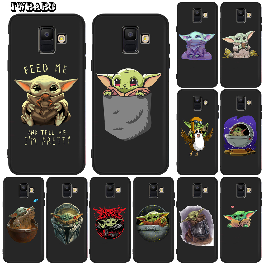 Cute Cartoon Baby Yoda Meme Case for Fundas Samsung A520 A9 A6 A7 A8 Plus 2018 A3 A5 A7 2017 A720 A320 Capa Etui image
