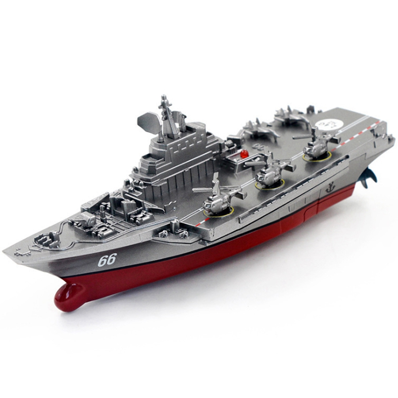 2.4GHz. Childrens Water Toy Remote-Controlled Ship Aircraft Carrier Refined Boat Model RC Boats