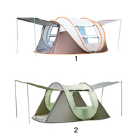 3 4 Person Outdoor Automatic Tents Large Family Tent Waterproof Camping Hiking Tent NEW