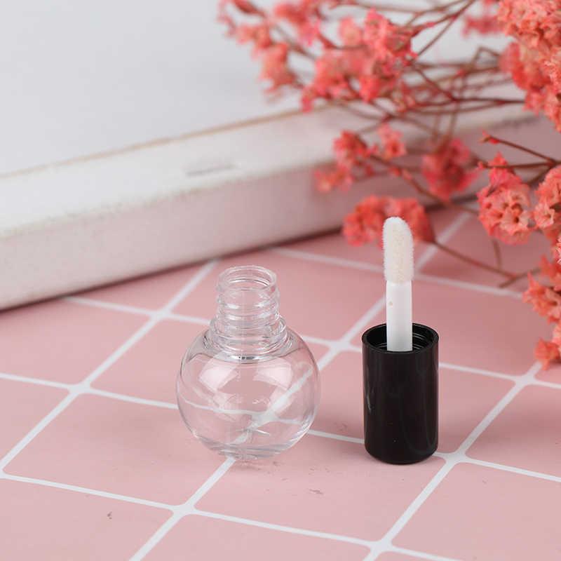 Mini Sampel Wadah Kosmetik Kosong Transparan Lip Gloss Tabung Plastik Balm Tabung Lipstik 4 Cm X 2.5 Cm 1 Pc