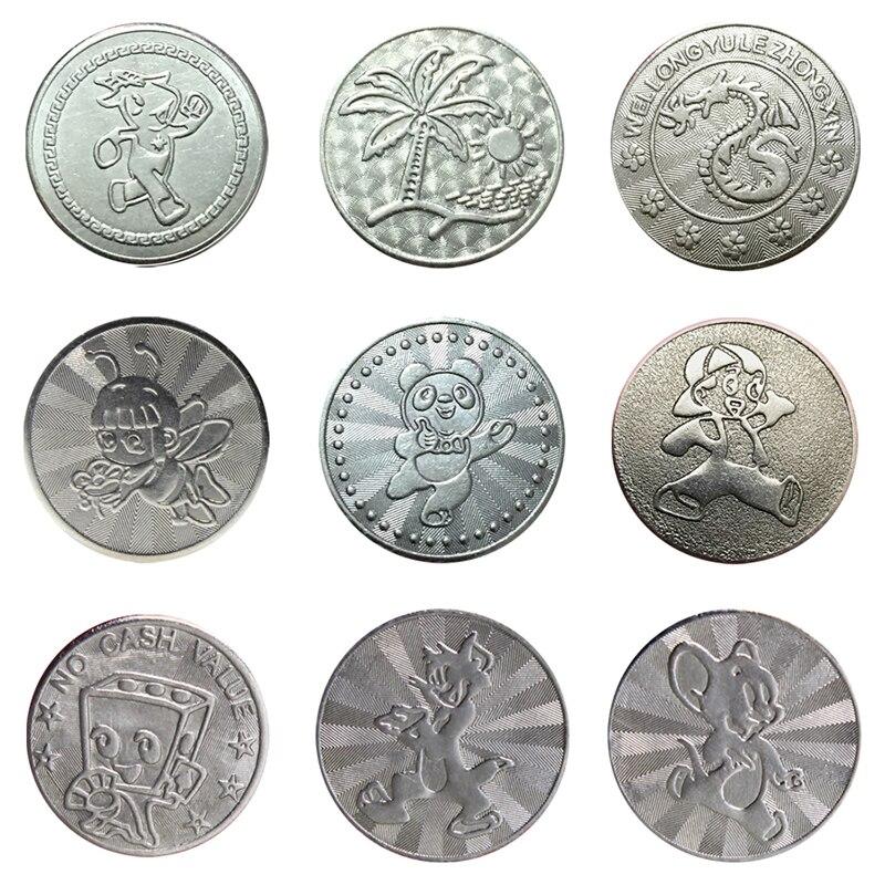 100 pces pelo saco tokens 25*1.85mm fichas de aço inoxidável da moeda do jogo da arcada para máquinas do divertimento de mech mame do aceitante da moeda da arcada