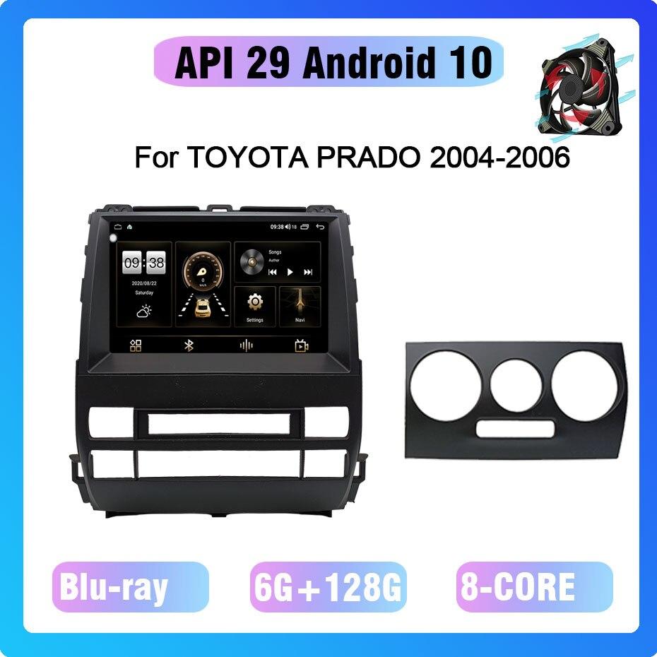 Android 10,0 Octa Core 6 + 128G Gps навигация автомобильный мультимедийный плеер радио охлаждающий вентилятор для TOYOTA PRADO 2004-2006
