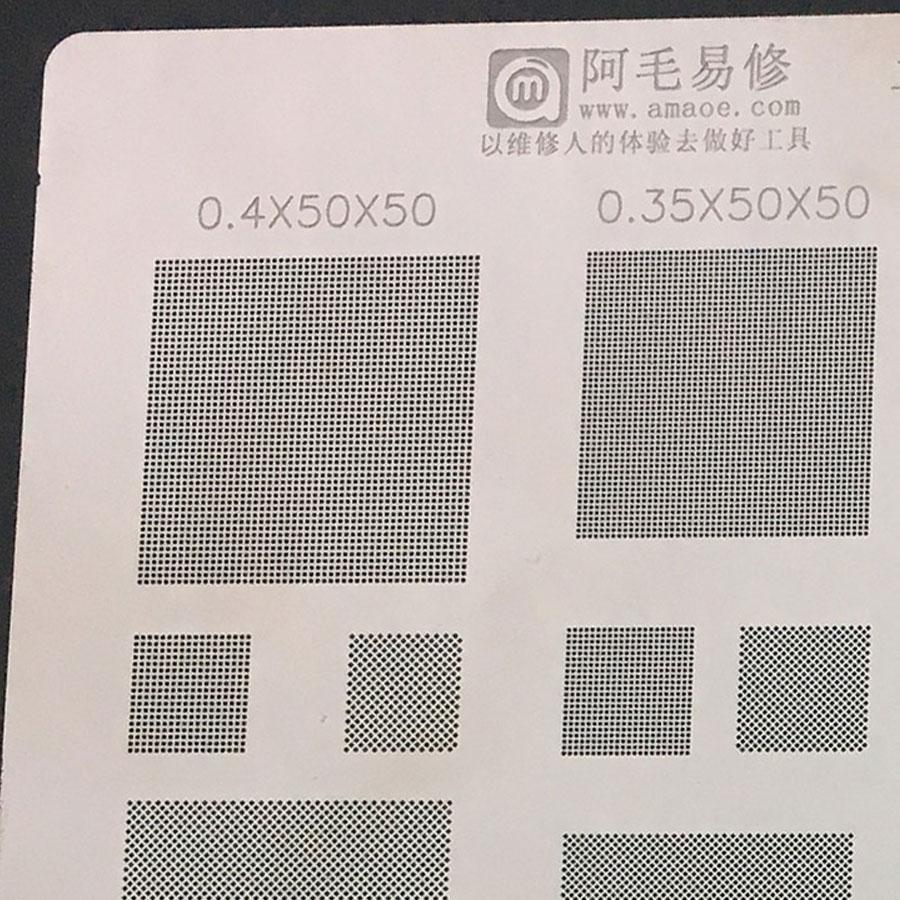Amaoe  BGA Reballing soldering stencils 0.3 0.35 0.4 0.5 parallel 45 degree hole/misaligned hole Universal BGA Reballing Stencil 4