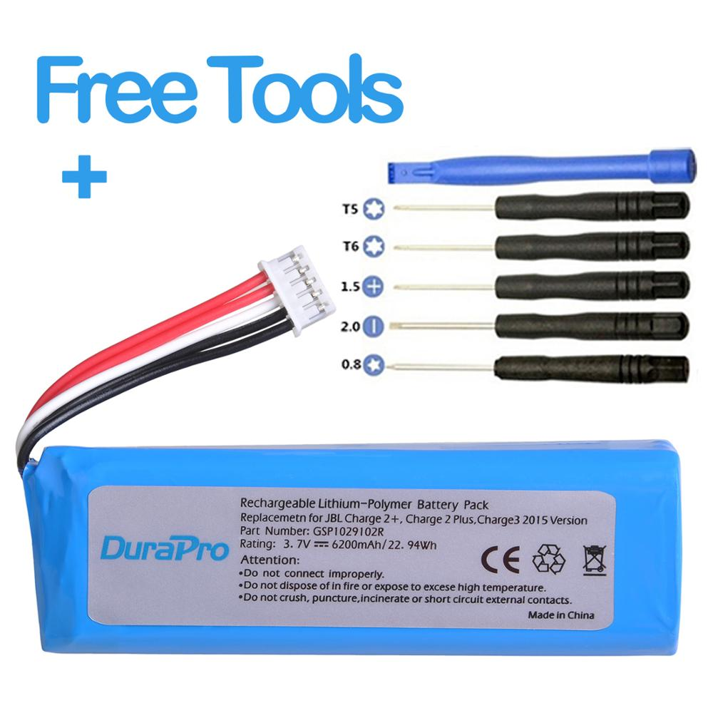 DuraPro 6200mAh Battery For JBL Charge 2 + /Charge 2 Plus /Charge 3 2015 Version Replace Speaker Battery GSP1029102R
