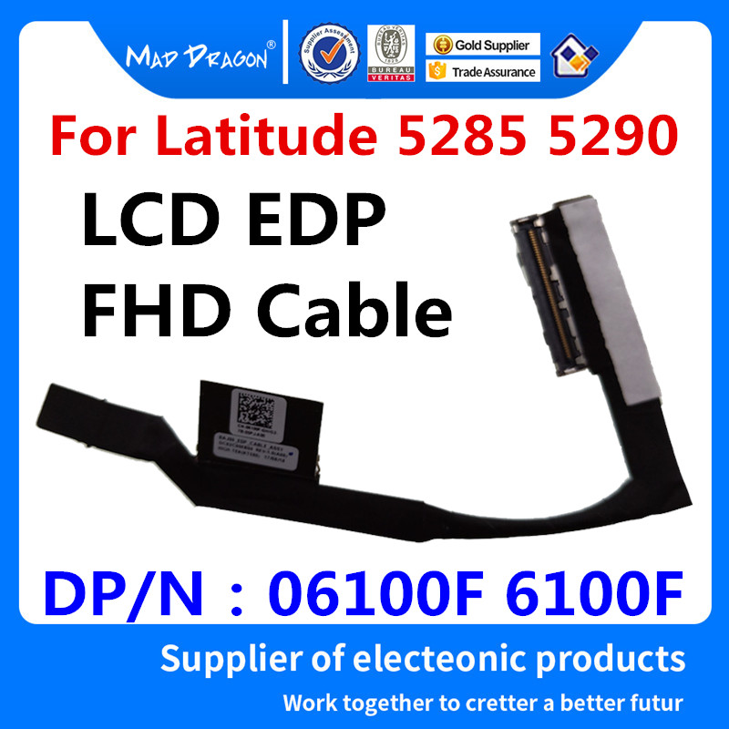 for Dell Latitude 5285 screen cable connector BAJ00 DC02C00EB00 6100F tested