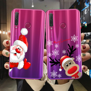 FLYRUI For Fundas Huawei Honor 10 20 30 Lite Pro 10i 8X 9X Pro Phone Case Merry Christmas Cover New Year Soft TPU Shell Coque