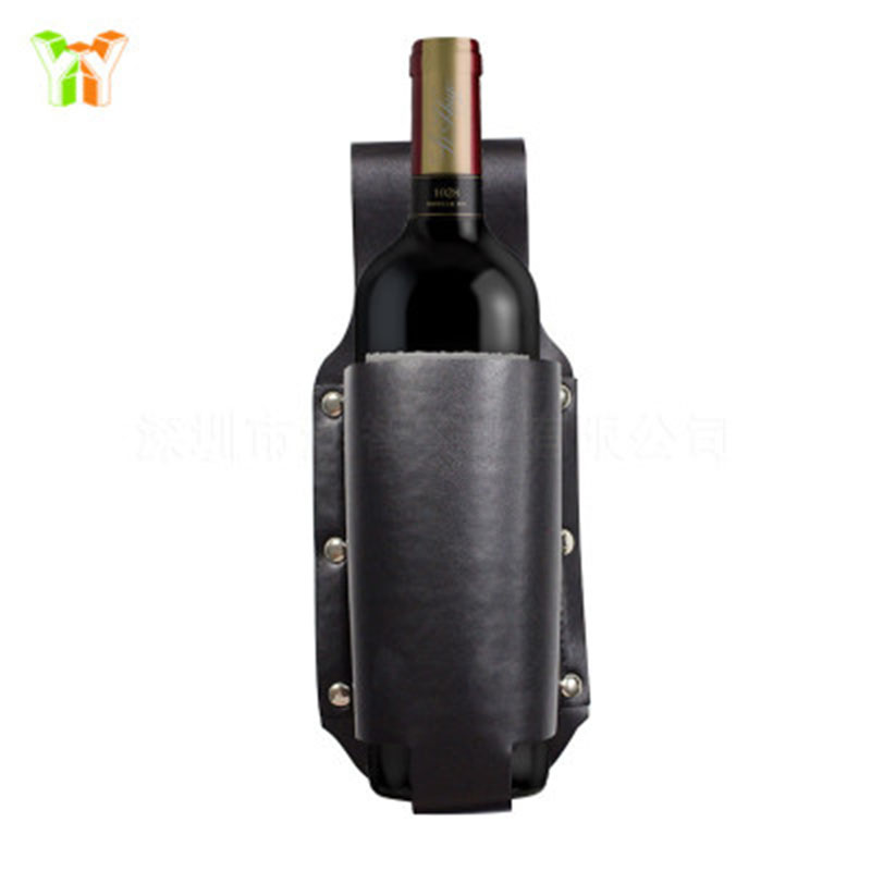 Beer Bottle cover Protective Case Leather Outdoor Beer Bottle Belt PU wine Garrafa Protector Leather Essential Gadget N