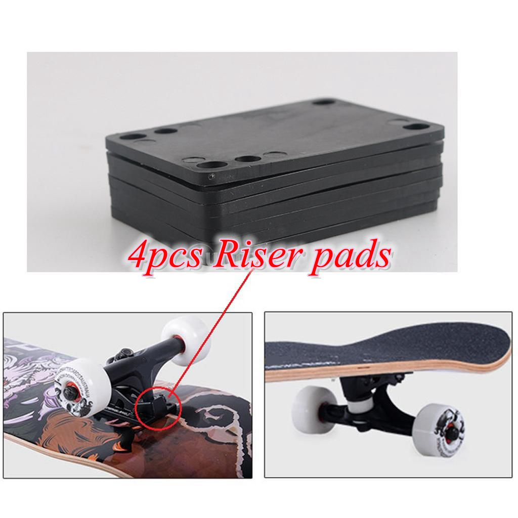 4PCS/Set 3mm Skateboard Riser Pads Shockpads Good Replacement For Longboard Skateboarding Hardware Accessory Dropshipping