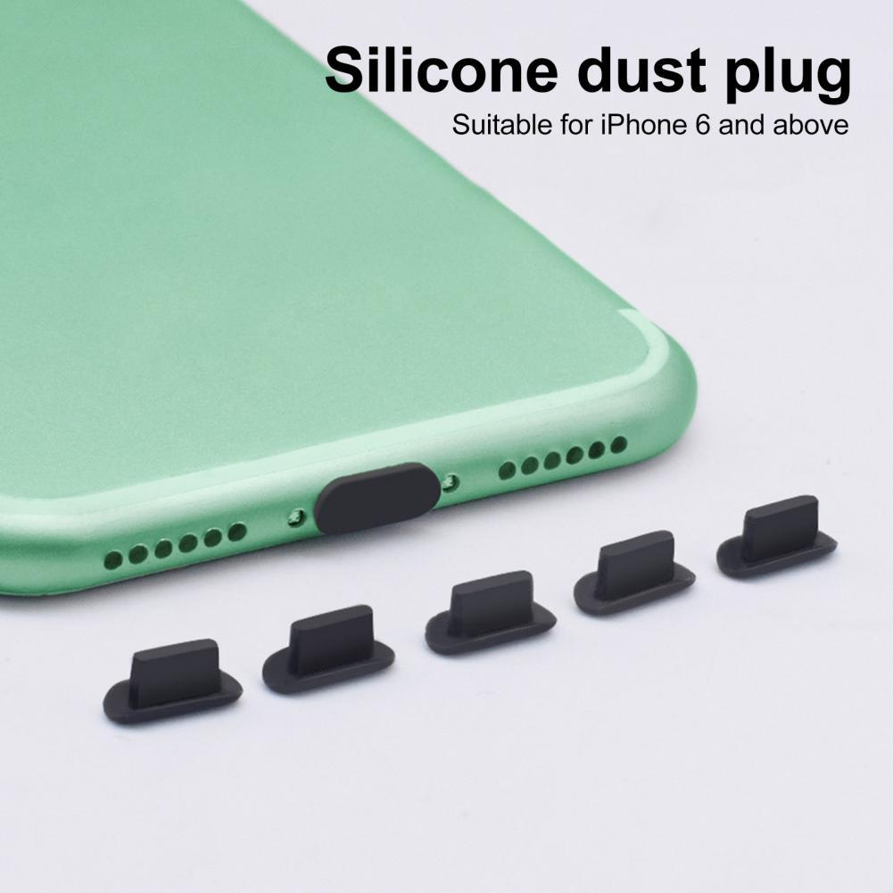 5 шт. силиконовых кейсов Износостойкий чехол для телефона чехол для наушников планшет пылезащитные заглушки для iPhone 5S 6 8P iPhone 11 iPhone 12 Pro AirPods н...