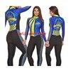 2020 feminino longo triathlon manga longa ciclismo skinsuit maillot ropa ciclismo casal conjuntos de camisa bicicleta macacão 16 cores macaquinho ciclismo feminino manga longa roupas femininas com frete gratis roupa de 10
