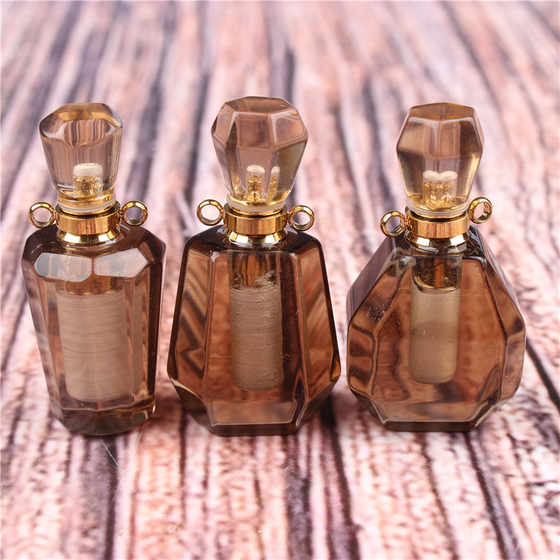 Mini Perfume Bottle  Citrine 3ML Portable Travel Cosmetic Container Perfume Bottle Cosmetic Container
