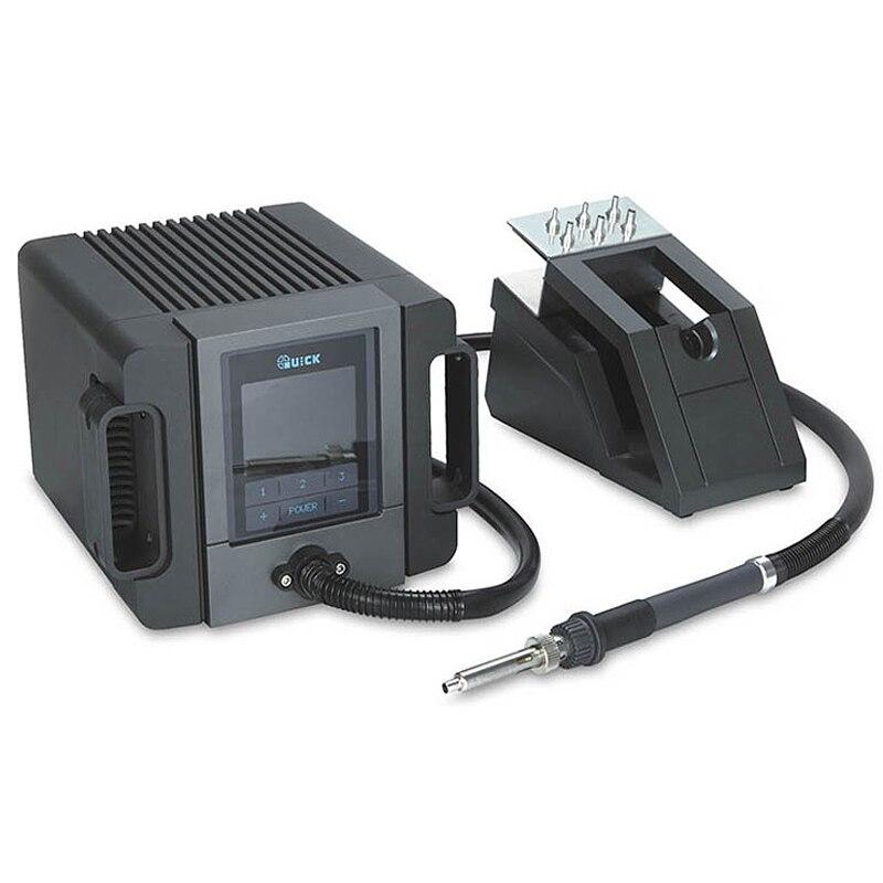 Rápido TR1100 sin plomo Original lápiz de aire caliente Estación de soldadura eléctrica portátil pequeño volumen de aire pistola de calor estación Conector neumático Tipo UE conector de empuje rápido acoplador de alta presión funciona en compresor de aire de alta calidad estándares europeos