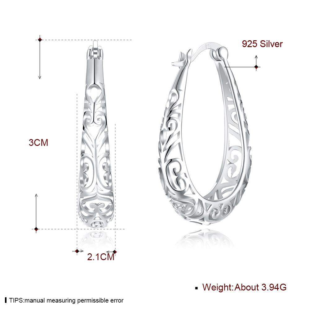 COLOGO Hot 925 Sterling Silver Gold plating Earrings For Women Anniversary Original Sterling Silver Wedding Jewelry Gift LKN0064 in Stud Earrings from Jewelry Accessories
