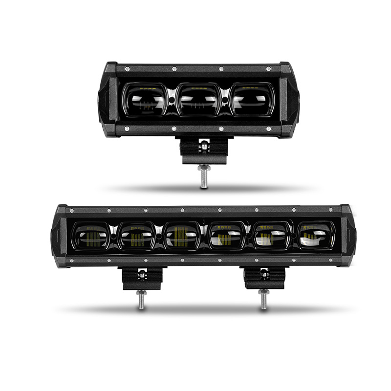 DERI 6D Lens 30W 60W 8 14 Inch Single Row Led Light Work 4x4 Offroad Led Light Bar For Off Road 4WD Truck ATV 12V 24V Barra Led