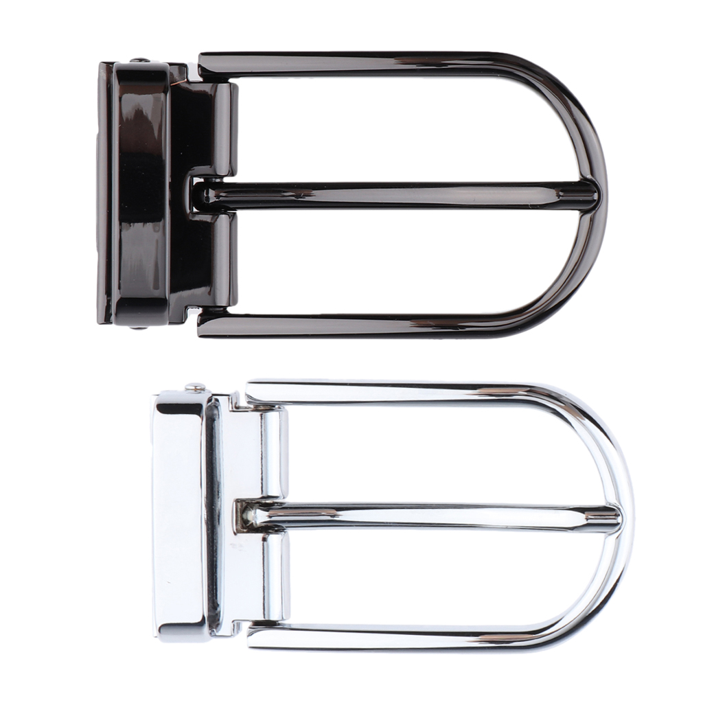 2pcs Single Prong Rectangular Belt Buckle Alloy Pin Buckle Accessory For 28 - 29 Mm Belt Single Pin Half Buckle