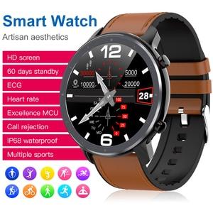 Image 2 - Cobrafly 2020 L11 ساعة ذكية الرجال 1.3 بوصة كامل شاشة تعمل باللمس IP68 مقاوم للماء مراقب معدل ضربات القلب اللياقة البدنية Smartwatch PK DT78 L9 L8