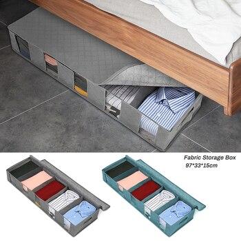 NonWoven Family Save Space Organizador Bed Under Closet Folding Clothes Storage Box Divider Organiser Quilt Bag Holder Organizer