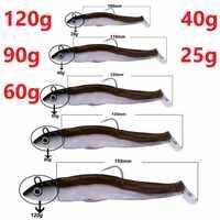 Hunthouse nero minnow 25g 40g 60g 120g richiamo di pesca soft luccio lure leurre souple shad peche iscas artificiais del silicone richiamo
