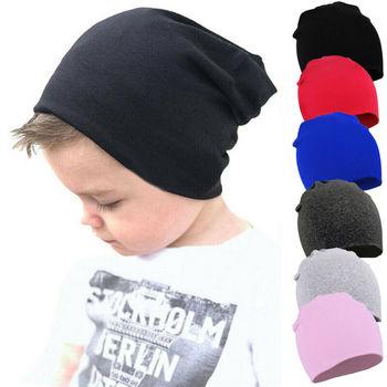 2019 nowości czapki dla dzieci czapki zimowe ciepłe niemowlę dziewczynki chłopcy stałe czapki maluch dzieci dzieci czapka beanie czapki tanie i dobre opinie FOCUSNORM COTTON Regulowany Unisex 19-24 miesięcy Baby Hats