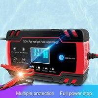 150 v/250 v a 12 v 6a carregador de bateria carro inteligente carregamento de energia rápida para molhado seco chumbo ácido digital display lcd plug eua alta qualidade