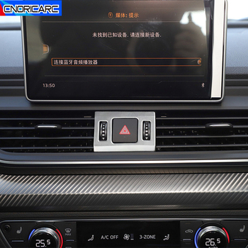 Parking Switch Frame Decoration Decals Car Styling For Audi Q5 FY 2018 2019 Stainless Steel Interior Accessories image