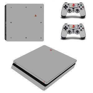 Image 4 - สีขาวสีเต็มรูปแบบPS4 Slimสติ๊กเกอร์Play Station 4สติกเกอร์ผิวสำหรับPlayStation 4 PS4 Slimคอนโซลและคอนโทรลเลอร์สกิน