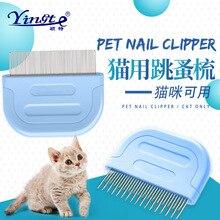 Pet Supplies Cat Comb Dog Cat tiao zao shu Grate Comb Lice Flea Stainless Steel Gill to Flea Comb