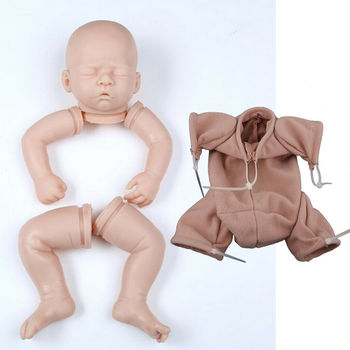 """Silicone 20"""" Reborn Kits - Unpainted Full Limb Mold & Cloth Body - Baby Doll Doll Accessories Cool Gift"""