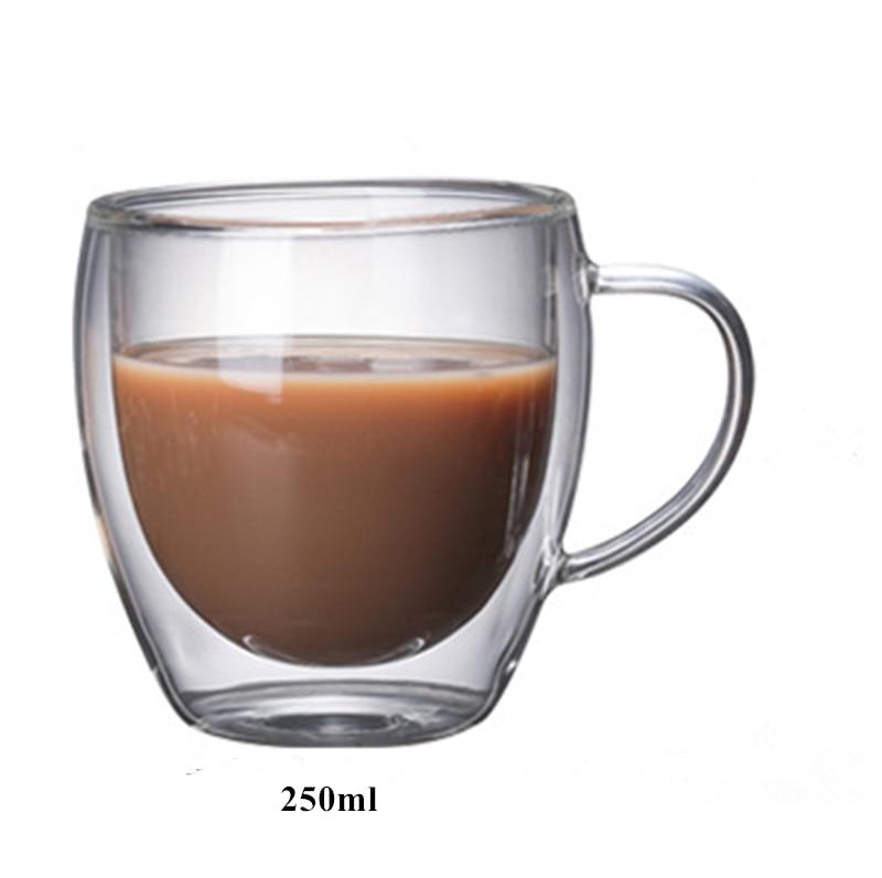 Детская одежда на рост 80, 250/350/450 мл чайник для заварки из термоустойчивого с двойными стенками, Стекло пивной бокал, Кубок Кофе чашки ручной работы здоровый напиток кружка Чай кружки прозрачный посуда для напитков - Цвет: G 250ml
