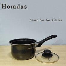 Homdas Kitchen Nonstick 1 Quart Saucepan Pan with Glass Lid - Multipurpose Use for Home or Restaurant