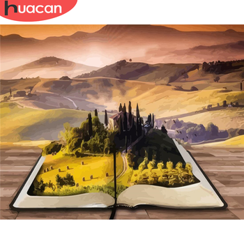 HUACAN Paint By Number Book Landscape Drawing On Canvas HandPainted Art Gift DIY Pictures By Number Mountain Kits Home Decor