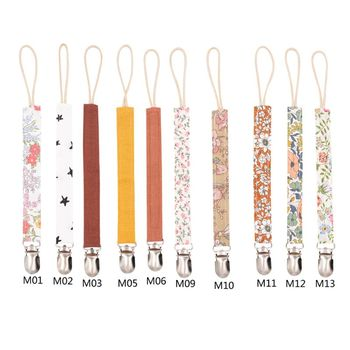Baby Pacifier Clip Chain Cotton Linen Holder Soother Clips Leash Belt Nipple For Infant Feeding - discount item  48% OFF Feeding