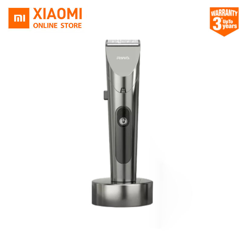 2020 New Xiaomi RIWA Hair Clipper Personal Electric Trimmer Rechargeable Strong Power Steel Cutter Head With LED Screen Washable