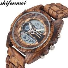 Shifenmei Digital Watch Men Top Luxury Brand Wood W