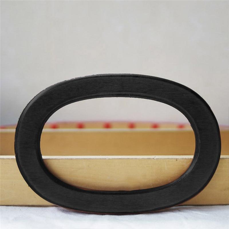 Oval Shape 2 Pieces Of Wood Bag Handle Wooden Cloth Purse Frame Bag Parts Handles